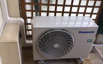 Installation et mise en service de climatisation réversible bi-split de marque Panasonic dans la maison individuelle au Cannet
