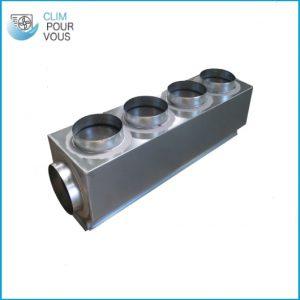- Plénum de soufflage isolé M1 taille M pour gainable PLSFL-MITSU-M