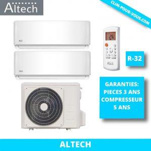 - Fourniture et pose de bi-split 2 x 2.5 kW M2OC-18HFN8/ 09HFN8Q Série AB Altech