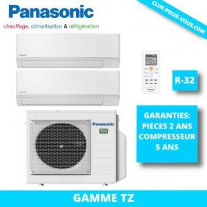 - Fourniture et pose de bi-split 2 x 1.5kW CU-2Z35TBE / CS-MTZ16TKE PZ Panasonic