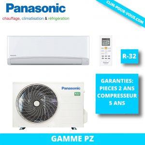 - Fourniture et pose de monosplit 3.5 kW CS-PZ35VKE/ CU-PZ35VKE Panasonic PZ