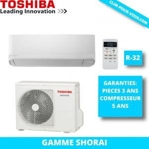 - Fourniture et pose de monosplit 7.1 kW  RAS-B24PKVSG / RAS-24PAVSG Shorai Toshiba