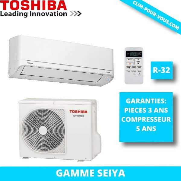 - Fourniture et pose de monosplit 2 kW RAS-B07J2KVG / RAS-07J2AVG Seiya Toshiba