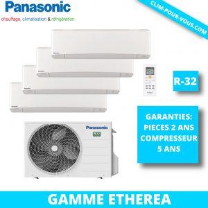 - Fourniture et pose de quadri-split 4 x 1.5kW CU-4Z68TBE / CS-MZ16VKE Etherea Panasonic