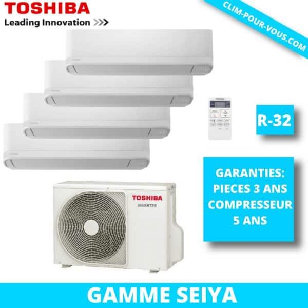 - Fourniture et pose de quadri-split 4 x 1.5kW RAS-5M34U2AVG / RAS-B05J2KVG Seiya Toshiba