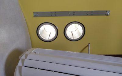 Installation d'un climatiseur monobloc dans un appartement du Paris 8ème.