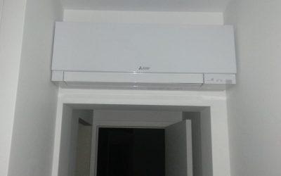 Installation d'un système de climatisation réversible quadri-split de la marque Mitsubishi à Mougins