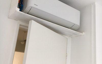 Installation climatisation réversible quadri-split de la marque Toshiba à Grasse