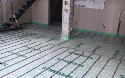 Installation pompe à chaleur air/eau pour le sol chauffant